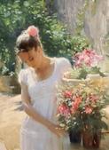 俄羅斯油畫家弗拉基米爾·沃列戈夫的女性作品:俄羅斯美女04.jpg