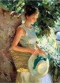 俄羅斯油畫家弗拉基米爾·沃列戈夫的女性作品:俄羅斯美女20.jpg