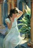 俄羅斯油畫家弗拉基米爾·沃列戈夫的女性作品:俄羅斯美女06.jpg