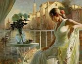 俄羅斯油畫家弗拉基米爾·沃列戈夫的女性作品:俄羅斯美女13.jpg