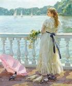 俄羅斯油畫家弗拉基米爾·沃列戈夫的女性作品:俄羅斯美女12.jpg