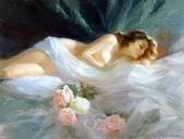 俄羅斯油畫家弗拉基米爾·沃列戈夫的女性作品:俄羅斯美女17.jpg