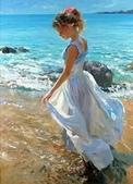 俄羅斯油畫家弗拉基米爾·沃列戈夫的女性作品:俄羅斯美女09.jpg