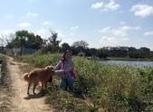 107狗年春節年初二逛大埤塘與菜園:IMG_8176愛犬與我.jpg