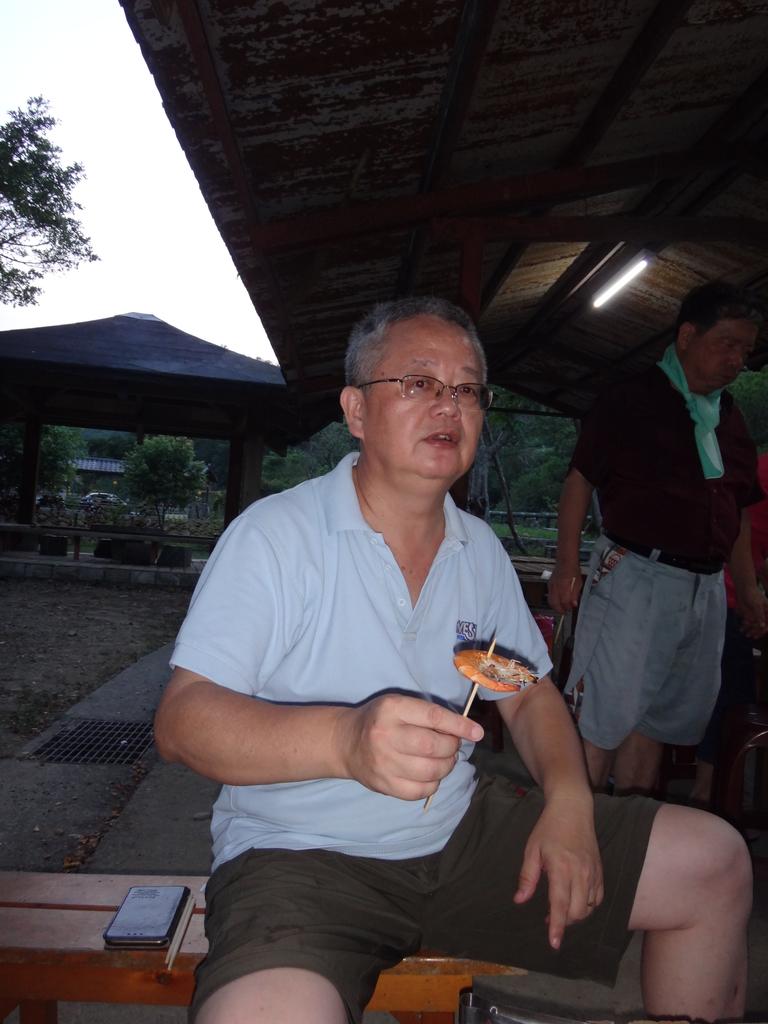 雙溪八景之蘭溪消夏與老農夫生態休閒農莊:DSC04293烤蝦.JPG