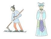 中史報告的插畫:重農抑商
