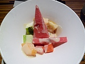 090718皮蛋麻生日原燒慶生:水果優格沙拉