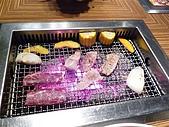 090718皮蛋麻生日原燒慶生:烤爐上的肉