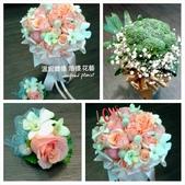 美呆了!!:新娘捧花設計~香檳捧花.jpg
