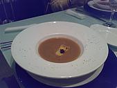 20090119夏慕尼:松露洋蔥湯,上面黑黑的就是松露
